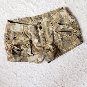 Armani Exchange Camo Cargo Shorts, Size 2